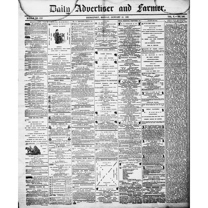 Daily advertiser and farmer, 1856-1861