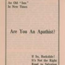 Are you an apathist?!
