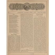 Bazar budget, 1880