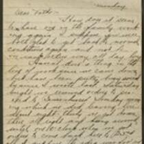 Milton Bradley letter to Mrs. Robert Bradley, 1918 October